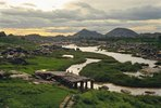 View towards Tungabhadra river, Karnataka, Indien