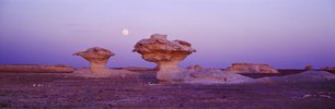 Mushroom rock in the White Desert, Farafra, Oase, Sahara, Ägypten