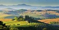 Typical landscape, Orcia Tal, Provinz Siena, Toskana, Italien