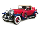 Rot-blauer Cadillac 452A V-16 Roadster, Modell