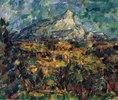 Landschaft bei Aix mit dem Montagne Sainte-Victoire
