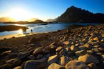 Norwegen, Lofoten, Mitternachtssonne