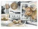Küchenansicht mit Kuh