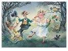Der Nachtschelm und das Siebenschwein oder eine glückliche Ehe, Illustration zu einem Gedicht von Christian Morgenstern