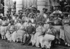 Kandy, chiefs of the central provinces wearing formal dress_