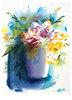 Lichtbeschienene Blumen