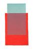 Abstraktes Aquarell Rot und Grün