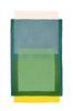 Abstraktes Aquarell Rosa Gelb und 3x Grün