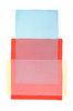 Abstraktes Aquarell Blau Rot Gelb