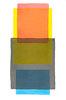 Abstraktes Aquarell Rot Gelb Grau Blau