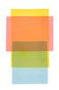 Abstraktes Aquarell Gelb Rot Blau - Original