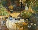 Das Mittagessen: dekorative Tafel. (im Garten Claude Monets in Argenteuil). Gegen