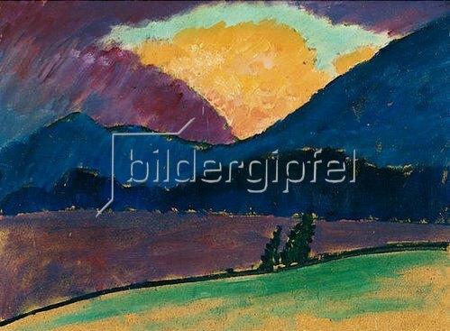 Alexej von Jawlensky: Sommerabend in Murnau. Um 1908/09