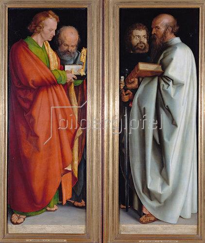 Albrecht Dürer: Die vier Apostel (Johannes.Ev., Petrus, Markus, Paulus). 1526