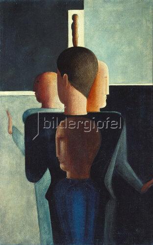 Oskar Schlemmer: Konzentrische Gruppe. 1925