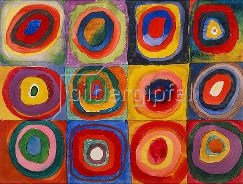 Wassily Kandinsky: Farbstudie - Quadrate und konzentrische Ringe. 1913