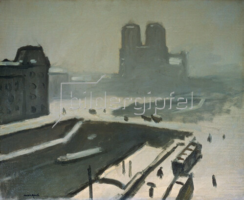 Albert Marquet: Paris, Notre-Dame im Winter. 1908.
