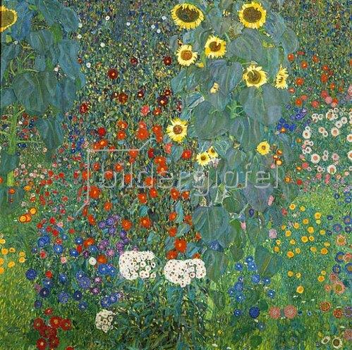 Gustav Klimt: Bauerngarten mit Sonnenblumen. 1905/06