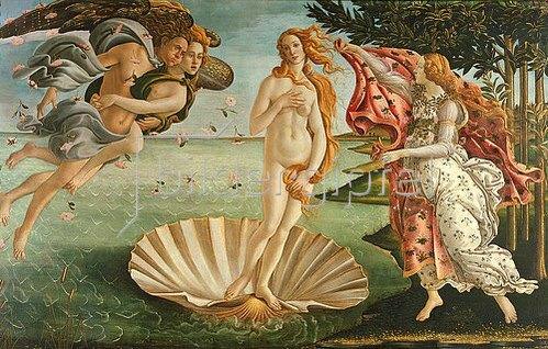 Sandro Botticelli: Geburt der Venus.