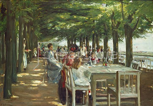 Max Liebermann: Terrasse des Restaurants Jacob in Nienstedten an der Elbe. 1902