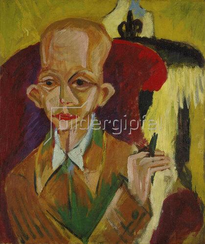 Ernst Ludwig Kirchner: Bildnis Oskar Schlemmer.