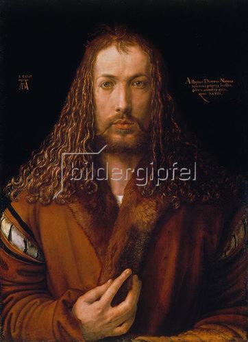 Albrecht Dürer: Selbstbildnis im Pelzrock. 1500