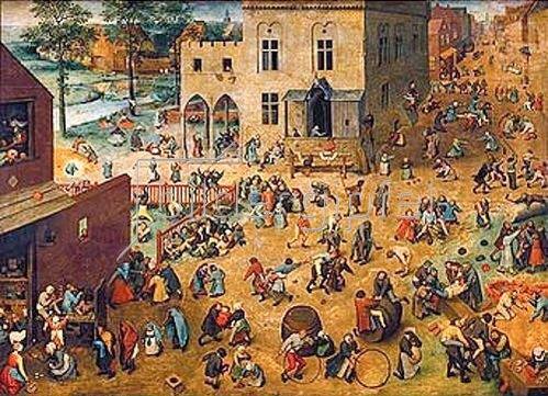 Pieter Brueghel d.Ä.: Kinderspiele. 1560