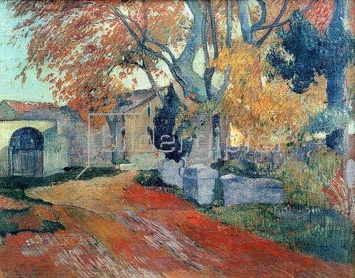 Paul Gauguin: Die Alyscamps in Arles.