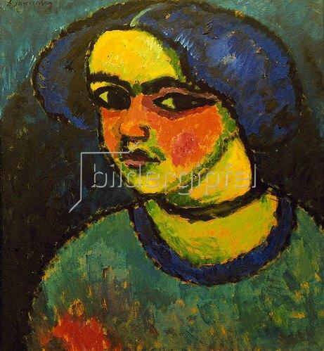 Alexej von Jawlensky: Die schwarzen Augen, 1912