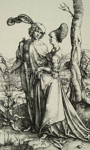 Albrecht Dürer: Edelmann und Dame beim Spaziergang, 1496/97