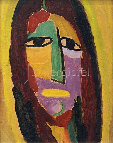 Alexej von Jawlensky: Mystischer Kopf: Johannes der Täufer, 1917