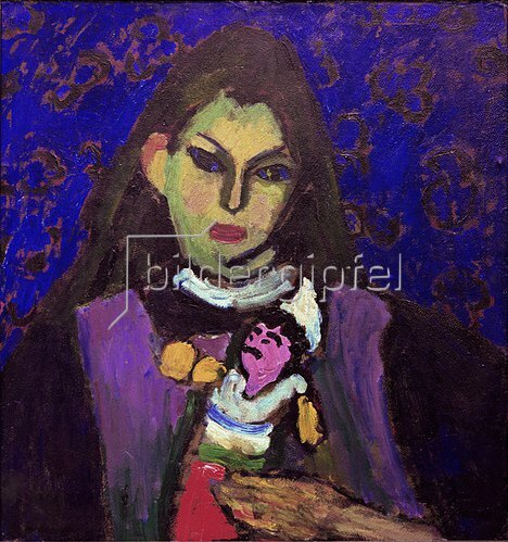Alexej von Jawlensky: Girl with puppet, um 1910