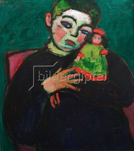 Alexej von Jawlensky: Child with puppet, 1910