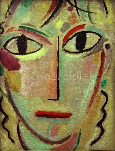 Alexej von Jawlensky: Mystischer Kopf: Staunen, um 1919