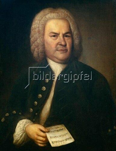 Elias Gottlob Haussmann: Bildnis Johann Sebastian Bach.
