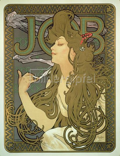 Alfons Mucha: Plakat für das Zigarettenpapier JOB