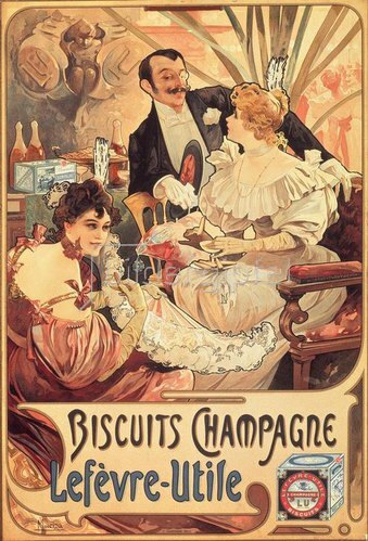 Alfons Mucha: Biscuits Champagne / Lefèvre-Utile