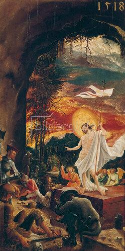 Albrecht Altdorfer: Die Auferstehung Christi um 1515. Predella des Flügelaltars in St. Florian.