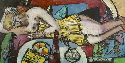 Max Beckmann: Ruhende Frau (Frau Welt)