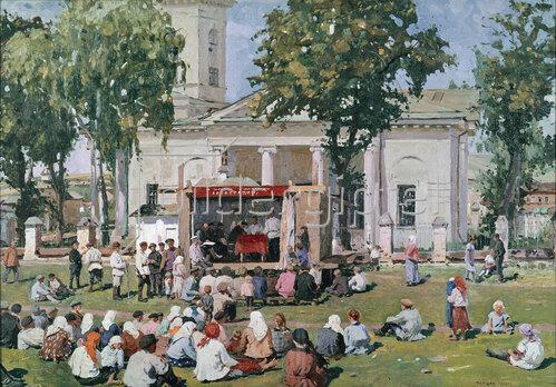 Jefim Michailowitsch Tschepzow: Tag der Kooperation im Dorf, 1926