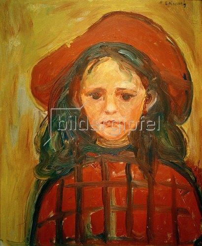 Edvard Munch: Mädchen mit rotem Hut, um 1905