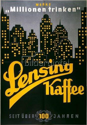 Lensing Kaffee / Plakat 1920