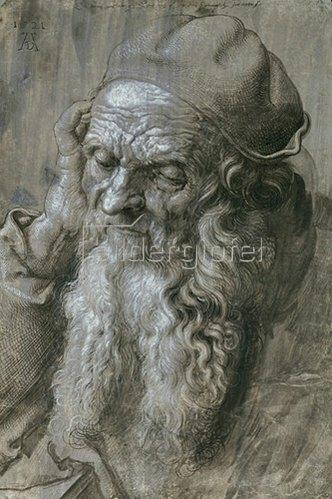 Albrecht Dürer: Der dreiundneunzigjährige Alte, 1521