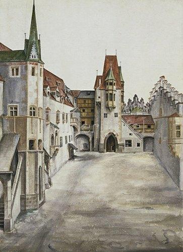 Albrecht Dürer: Hof der Burg zu Innsbruck (Courtyard of Innsbruck castle), 1495