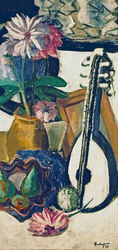 Max Beckmann: Stilleben mit violetten Dahlien