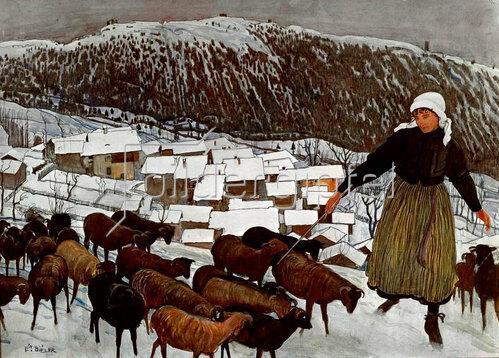 Ernest Bieler: Die Ziegenhirtin