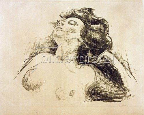 Edvard Munch: Liegender Halbakt II, 1920