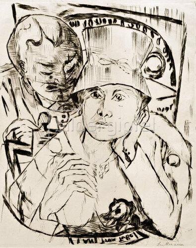 Max Beckmann: Theaterloge, 1918