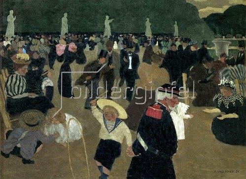 Felix Vallotton: Jardin du Luxembourg, 1895