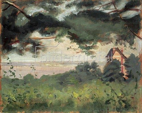 Felix Vallotton: Honfleur, Blick auf die Sandbänke, 1910
